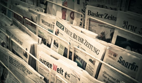 Newspapers shot